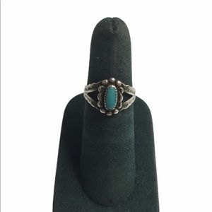Sterling Silver Turquoise Stone Oval Ring …
